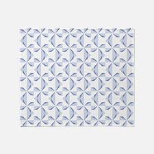 Powder Blue Pinwheels Throw Blanket