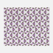 Lilac and Olive Pinwheels Throw Blanket