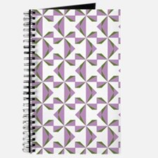 Lilac and Olive Pinwheels Journal