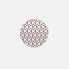 Lilac and Olive Pinwheels Mini Button