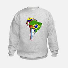 South America Flag Map Sweatshirt