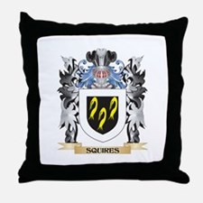 Squires Coat of Arms - Family Crest Throw Pillow