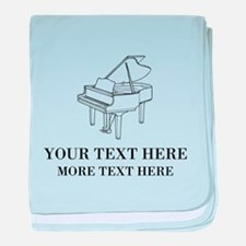 Custom piano baby blanket