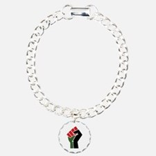 Black Red Green Fist Bracelet
