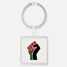 Black Red Green Fist Keychains