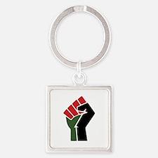 Black Red Green Fist Keychains