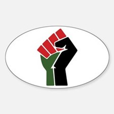 Black Red Green Fist Decal