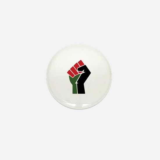 Black Red Green Fist Mini Button