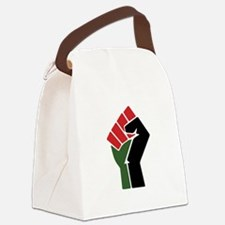 Black Red Green Fist Canvas Lunch Bag
