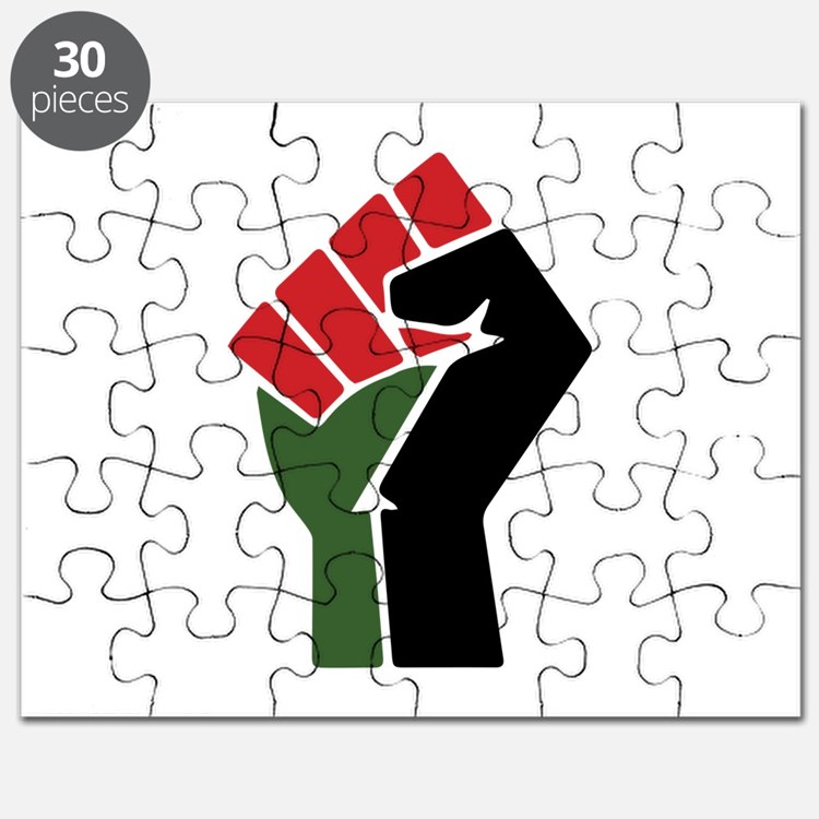 Black Red Green Fist Puzzle
