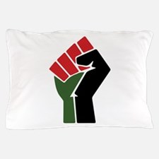 Black Red Green Fist Pillow Case