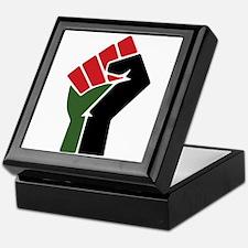 Black Red Green Fist Keepsake Box