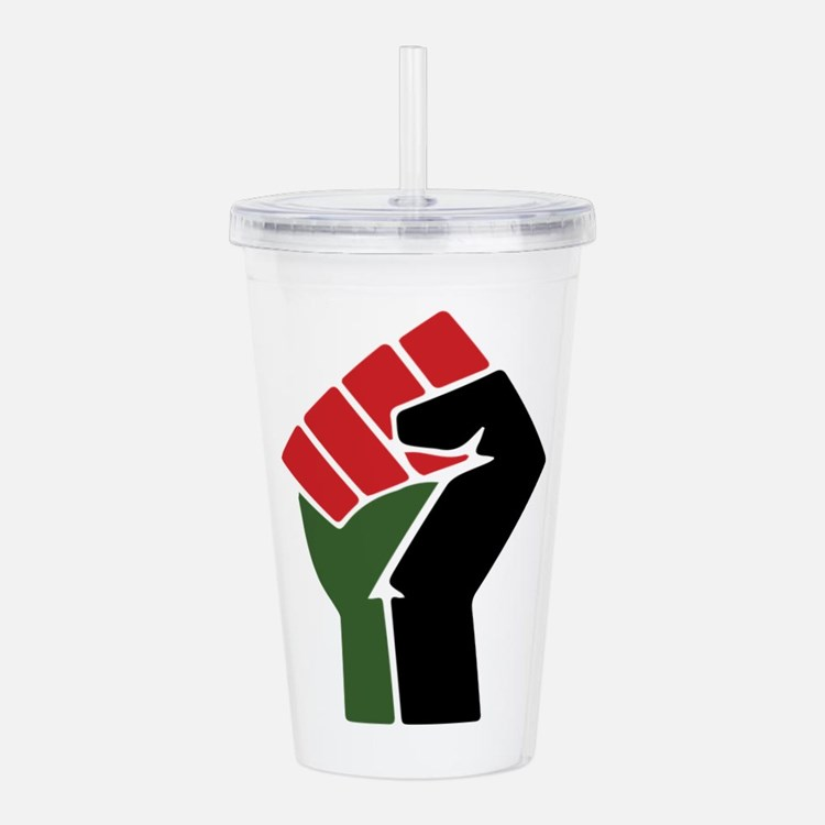 Black Red Green Fist Acrylic Double-wall Tumbler