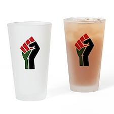 Black Red Green Fist Drinking Glass