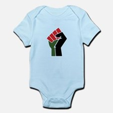Black Red Green Fist Body Suit
