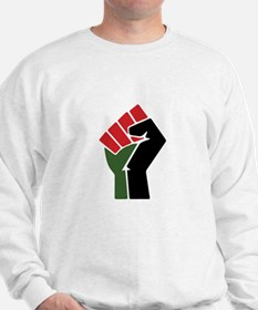 Black Red Green Fist Sweatshirt