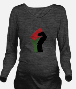 Black Red Green Fist Long Sleeve Maternity T-Shirt