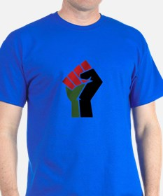 Black Red Green Fist T-Shirt