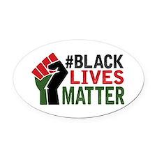 #Black Lives Matter Oval Car Magnet