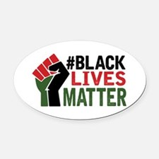 #Black Lives Matter Oval Car Magnet