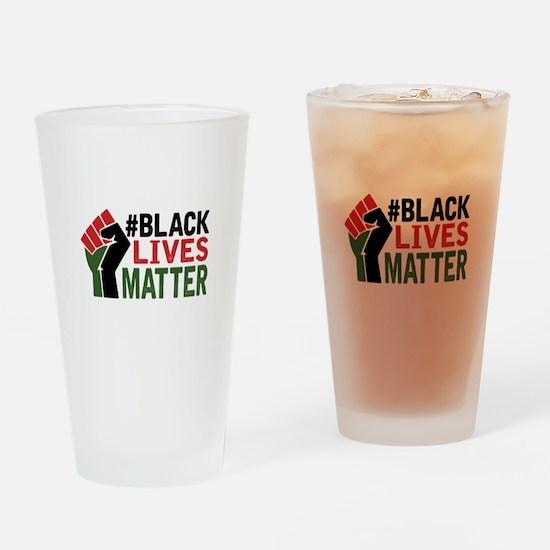 #Black Lives Matter Drinking Glass
