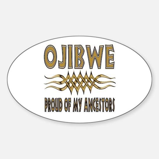 Ojibwe Ancestors Sticker (Oval)