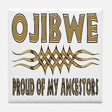 Ojibwe Ancestors Tile Coaster