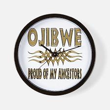Ojibwe Ancestors Wall Clock