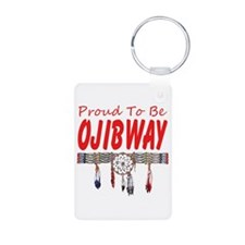 Proud to be Ojibway Aluminum Photo Keychain