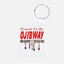 Proud to be Ojibway Aluminum Photo Keychain