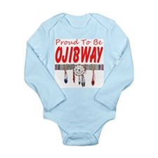 Proud to be Ojibway Long Sleeve Infant Bodysuit