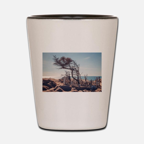 Graveyard by the sea Shot Glass