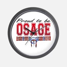 Proud to be Osage Wall Clock