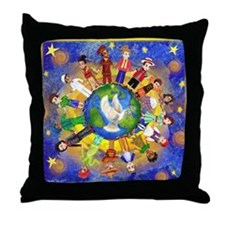 World Children Peace Throw Pillow