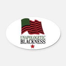 Unapologetic Blackness Oval Car Magnet