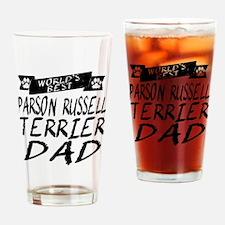 Worlds Best Parson Russell Terrier Dad Drinking Gl