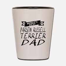 Worlds Best Parson Russell Terrier Dad Shot Glass