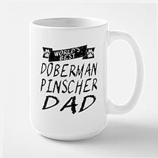 Worlds Best Doberman Pinscher Dad Mugs