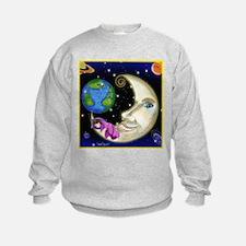 Girl On Moon Sweatshirt
