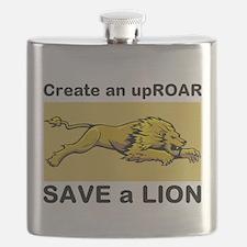 Lion Uproar Flask