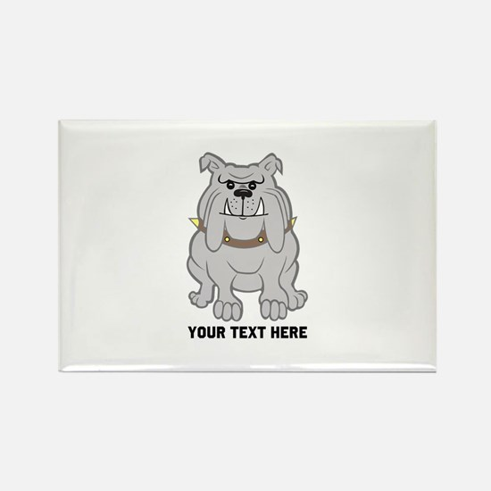 Bulldog personalized Rectangle Magnet (10 pack)