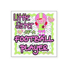 little sister of a football Sticker