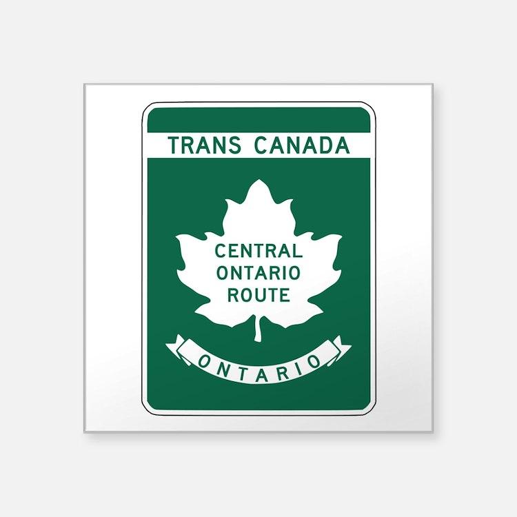 "Cute Toronto ontario Square Sticker 3"" x 3"""