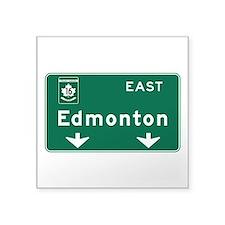 "Cute Edmonton Square Sticker 3"" x 3"""