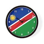 Namibia Flag Wall Clock