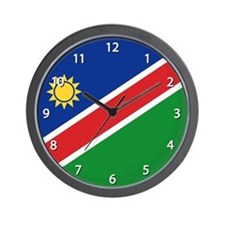 Namibia Flag Wall Clock
