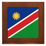 Namibia Flag Framed Tile