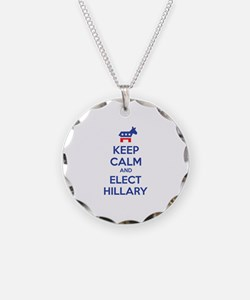 Keep calm and elect Hillary Necklace