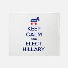 Keep calm and elect Hillary Stadium Blanket