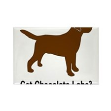Unique Chocolate lab Rectangle Magnet